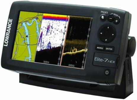LOWRANCE ELITE-7 HDI COMBO 83/200/455/800 T/M TRANSDUCER: Amazon ...
