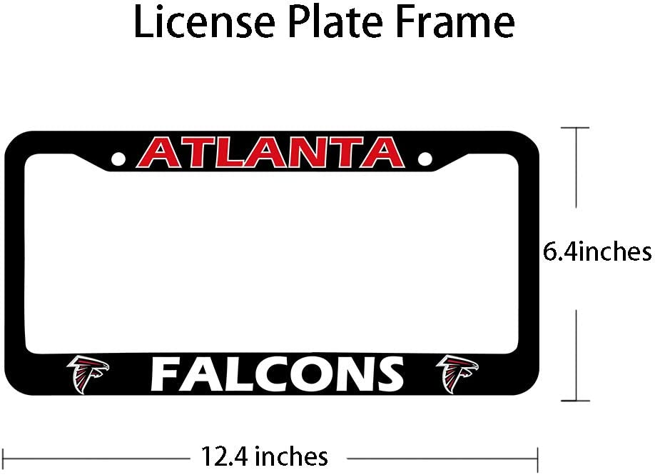 fit Ravens /… Matte Black Aluminum Alloy License Plate Frame Matching with Screw Cover Set Onlylove 2PCS fit Baltimore Ravens License Plate Frames