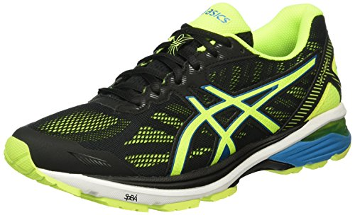 Asics Gt-1000 5, Zapatillas para Hombre Negro (Black/Safety Yellow/Blue Jewel)