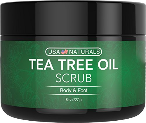 Tea Tree Oil Foot and Body Scrub - Antifungal Treatment - Exfoliating Scrub with a Unique Blend of Essential Oils - Smooths Calluses - Helps With Athletes Foot, Acne, Jock Itch & Dead, Dry Skin