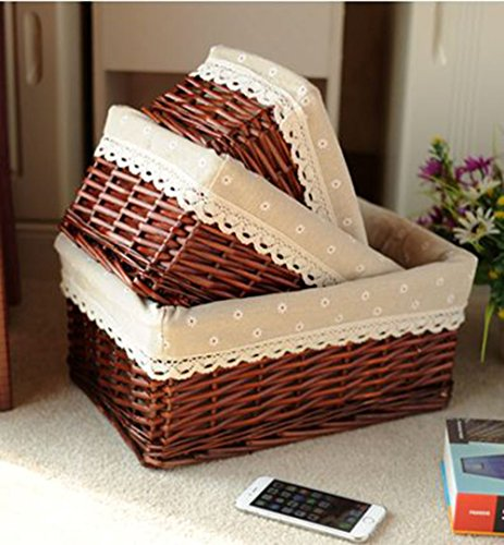 UPC 753510435854, XDOBO High Quality Hand Knitting Utility Storage Basket ,Decorative Office Desktop/Desk Organizer Tray (12 x 8 x 5 inches)