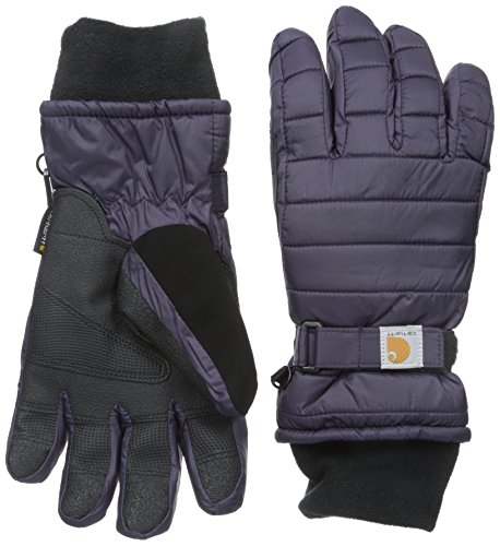 Carhartt Women's Quilts Insulated Breathable Glove with Waterproof Wicking Insert, Nightshade, Medium (Best Winter Glove Brands)