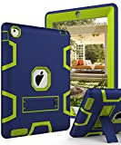 TIANLI iPad 2 Case,iPad 3 Case,iPad 4 Case Three Layer Protection Shockproof Protective with Kickstand iPad 2nd Generation Case/iPad 3rd Generation Case/iPad 4th Generation Case - Navy Blue