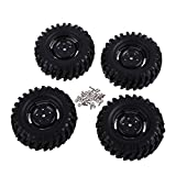 50 mm rc car tires - Domybest 4Pcs Rubber Tires Wheel Rims HPI 1:10 Off-Road Car Rock Crawler 210051
