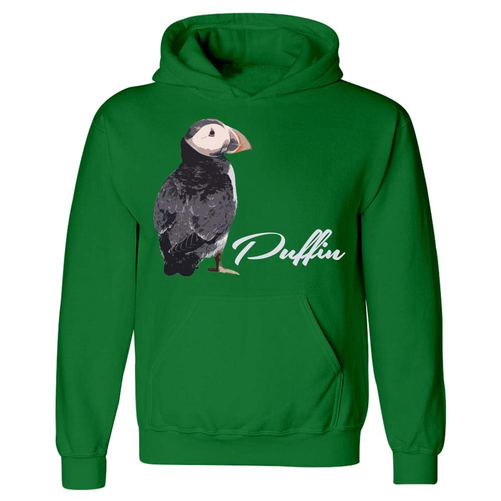 Seafowl Alcidae Short Neck Bird Hoodie Funny Puffin Colored Bill Tufted Humor