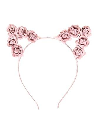 Amazon.com   LOVEsick Pink Rose Cat Ears Headband   Beauty 755df260ab4
