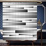 dark grey curtains john lewis Wanranhome Custom-made shower curtain Modern Decor Symmetric Geometric Flat Surfaced Fractal Lines Regular Forms Art Print Silver Dark Grey For Bathroom Decoration 54 x 78 inches