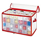 Simplify Ornament Storage, 112-Count-Red, Red