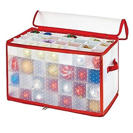 simplify 112 count christmas ornament storage box