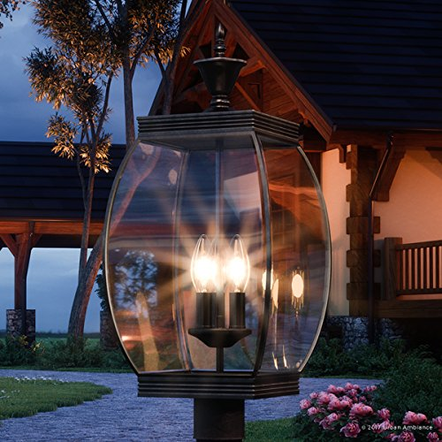 Luxury Colonial Outdoor Post Light, Large Size: 22