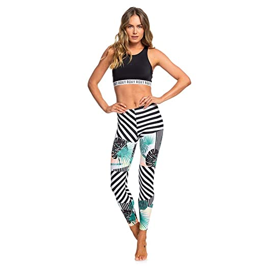 afc6ab16ee Amazon.com: Roxy Women's Junior Pop Surf Swim Leggings Swimwear, Jet ...