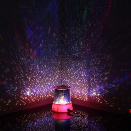 Innoo tech led star night light projector lamp colorful bedroom starry light bed side lamp for Starry night lights for bedroom
