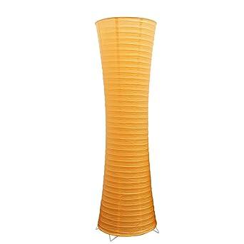 Papier Lampenschirm Und Metall Stehen Orange Stehlampe Einfache