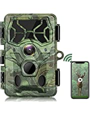 4K Native WiFi Trail Camera-30MP Bluetooth Hunting Game Camera with Night Vision Motion Activated Waterproof IP66 for Wildlife Monitoring
