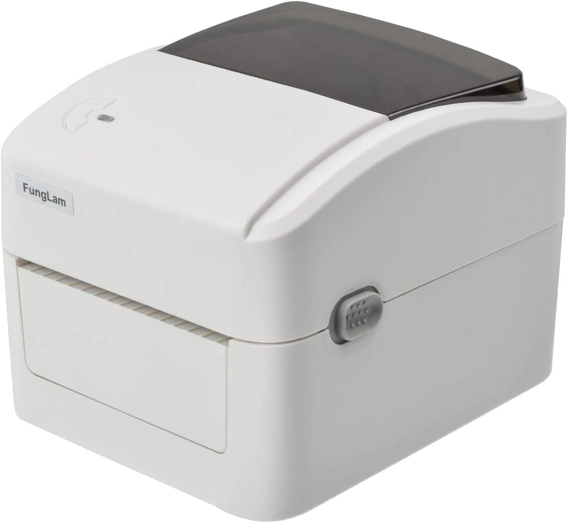 FungLam 420B Label Printer, 4x6 Printer, Barcode Printer, High Speed Commercial Direct Thermal Printer, Compatible with Amazon, Ebay, Etsy, Shipify - White