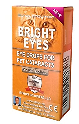 Ethos Bright Eyes™ Carnosine Eye Drops for Pets (Cats) - Ethos Bright Eyes™ NAC Eye Drops for Pets as Seen on UK National TV with Amazing Results! by ETHOS SCHWEIZ LLC