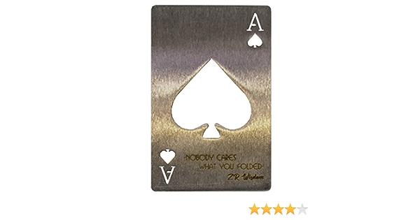 """KISME D/écapsuleur Ouvre-Bouteille,Ace of Spades Poker Soda Bouteille d/écapsuleur,Acier Inoxydable Motif Poker Decapsuleurs /""""as de Pique/"""" 2 Paquets"""