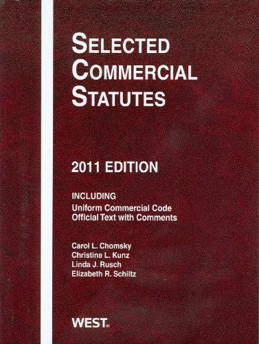 Selected Commercial Statutes, 2011
