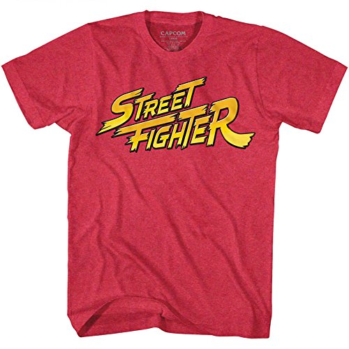 American Classics Street Fighter Video Martial Arts Arcade Game Yellow Logo Adult T-Shirt Tee