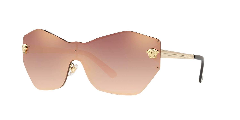 e40cab9d50 Amazon.com  Versace Womens Sunglasses Gold Brown Metal - Non-Polarized -  43mm  Clothing