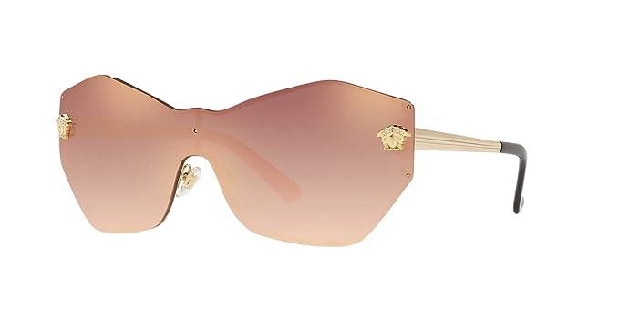 ac3f096eb9 Versace 0VE2182 Gafas de sol, Pale Gold, 40 para Mujer: Amazon.es: Ropa y  accesorios