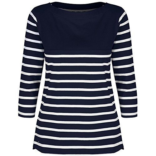 Regatta Great Outdoors - Camiseta de manga 3/4 a rayas modelo Preciosa para mujer Navy / Navy