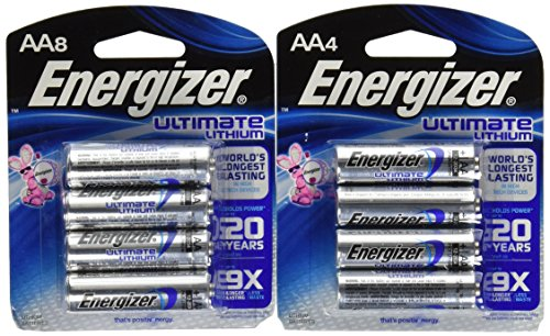 Energizer Ultimate Lithium AA 12 Battery Super Pack.