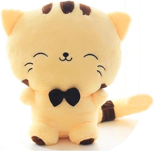 Muñeca de felpa con forma de gato, incluye cola de peluche, cojín de felpa, muñeca de gato Kawaii, juguetes de gato de felpa para niños, niñas, adolescentes: Amazon.es: Hogar