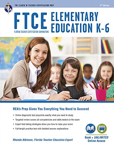 FTCE Elementary Education K-6 Book + Online (FTCE Teacher Certification Test Prep) ()