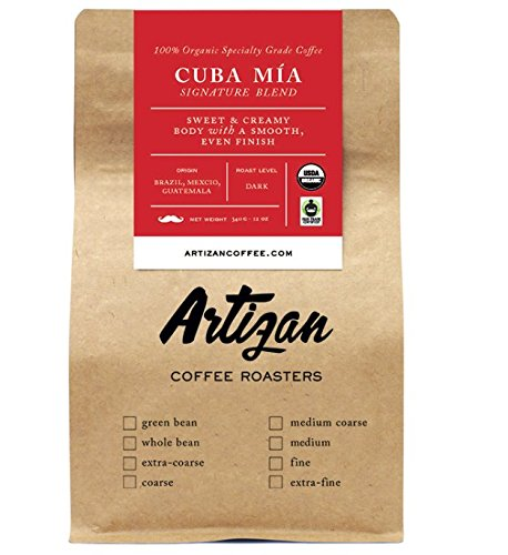 Authentic Cuban Style Espresso (Cafecito) - 100% USDA Certified Organic Coffee - Cuba Mia Espresso Signature Blend - Organic Cafe Cubano Intense Dark Roast - Whole Bean - Roasted in Miami, FL (2 Pack)