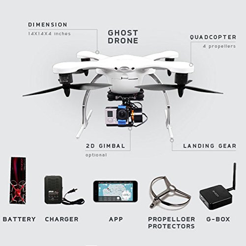 Ghost Drone Aerial Plus With Gimbal Camera IOS Version White