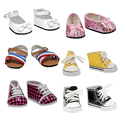The New York Doll Collection 6 Pairs of Shoes for 18 Inch Doll (Style 3)