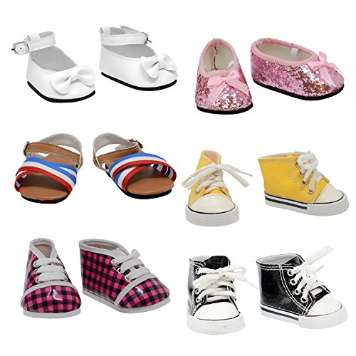 (The New York Doll Collection Shoe 6 Pairs of Doll s Fits 18