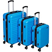 Amazon Basics Hartschalen – kofferset – 3-teiliges Set (55 cm, 68 cm, 78 cm), Hellblau