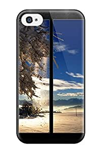 New Arrival Winter Nature For Iphone 4/4s Case Cover WANGJING JINDA