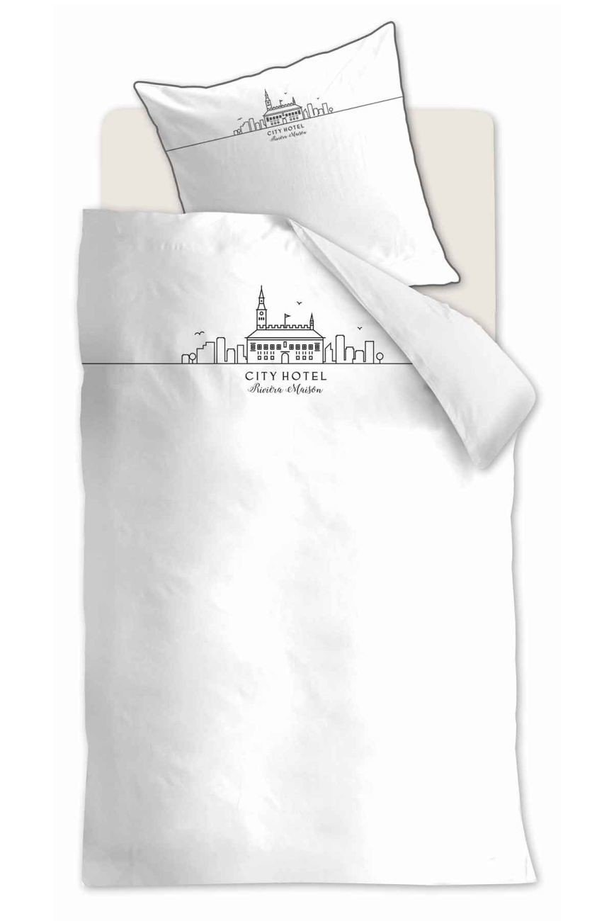 Rivièra Maison City Hotel Bettwäsche-Set 200x220   2x80x80 Weiß