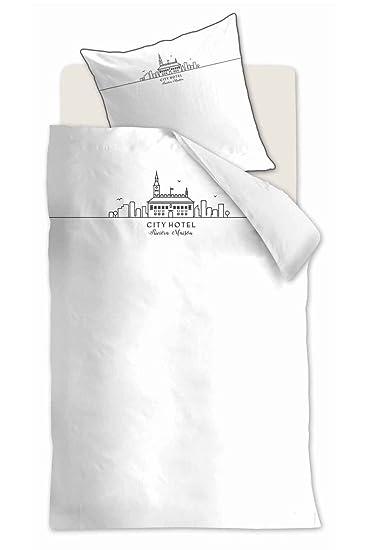 Rivièra Maison City Hotel Bettwäsche Set 135x200 80x80 White