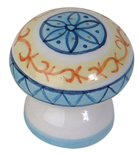 Atlas Homewares 3160-08 1-3/4-Inch Tuscany Collection Orvieto Hand painted Ceramic Knob, Ceramic