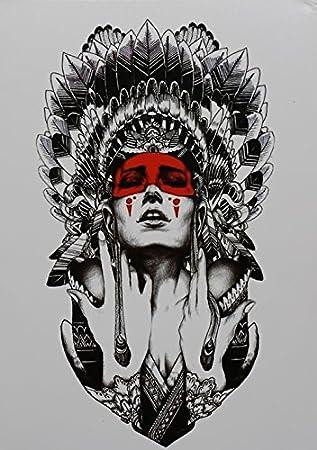 Tatouage Femme Tribu Indienne Noir Tatouages Temporaires Pour Haut