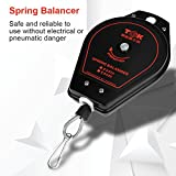 Spring Balancer, 0.6-2.0 kg Retractable Scale Wire Rope Balancer Tool Holder Hanger, Metal and Rubber Wall Pulley, Prevent Damage to Tools and Improve Working Efficiency, ES620
