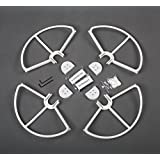 Summitlink® (P34WCA) Snap On/off Prop Guards 4 White for DJI Phantom All Versions Phantom 3 Professional Advanced Quick Disconnect Tool Free Quick Release Propeller Protector