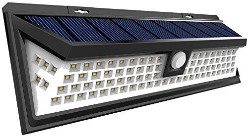 Solar Lights, Sunlitec 90 LED Outdoor Motion Sensor Solar Lights Wide Angle Design With 5 LEDs Both Side For Driveway Patio Deck Yard Garden, White Light
