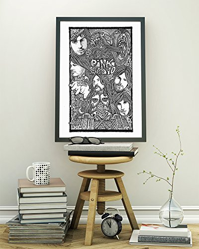 Pink Floyd Poster - Inspired Letterpress Art Print Poster - Detailed Pen and Ink Original Hand Drawing 11