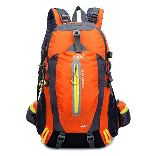 Los Lqabw Mochila Oxford Caminando Senderismo Viaje Mujeres De Impermeable Camping black Hombro Y Orange Hombres 40l Tela Montañismo Montar dZZqHrw