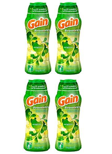 Gain lcNHa Fireworks In-Wash Scent Booster, Original, 26.5 Oz (4 Pack) by Gain