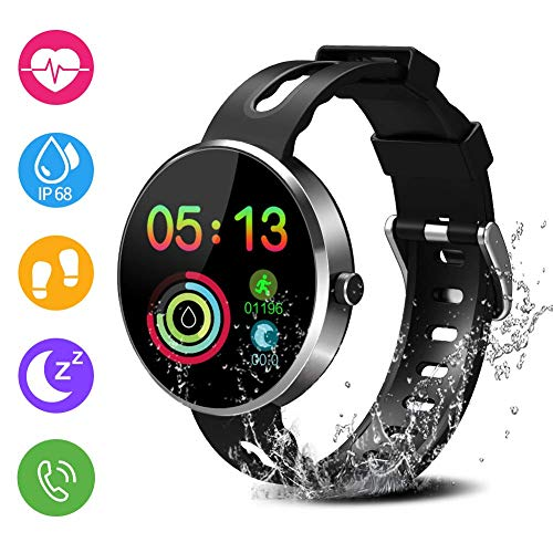 Avatar Controls Fitness Tracker, Activity Tracker IP68 Waterproof Fitness Wristband with Heart Rate Monitor, Sleep Step Track Pedometer, Menstrual Cycle Monitoring for Women Men Kids (Avatar Phone Watch)