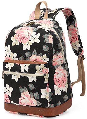 Kenox Girl's School Rucksack College Bookbag Lady Travel Backpack 14Inch Laptop Bag (Floral) by Kenox (Image #2)
