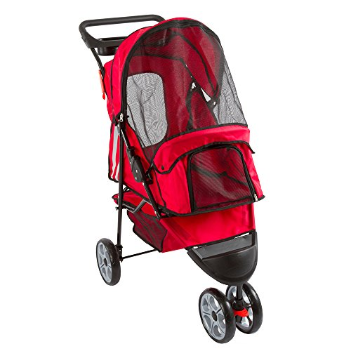 Discount Ramps Red 3-Wheel Trail Terrain Pet Stroller Jogger