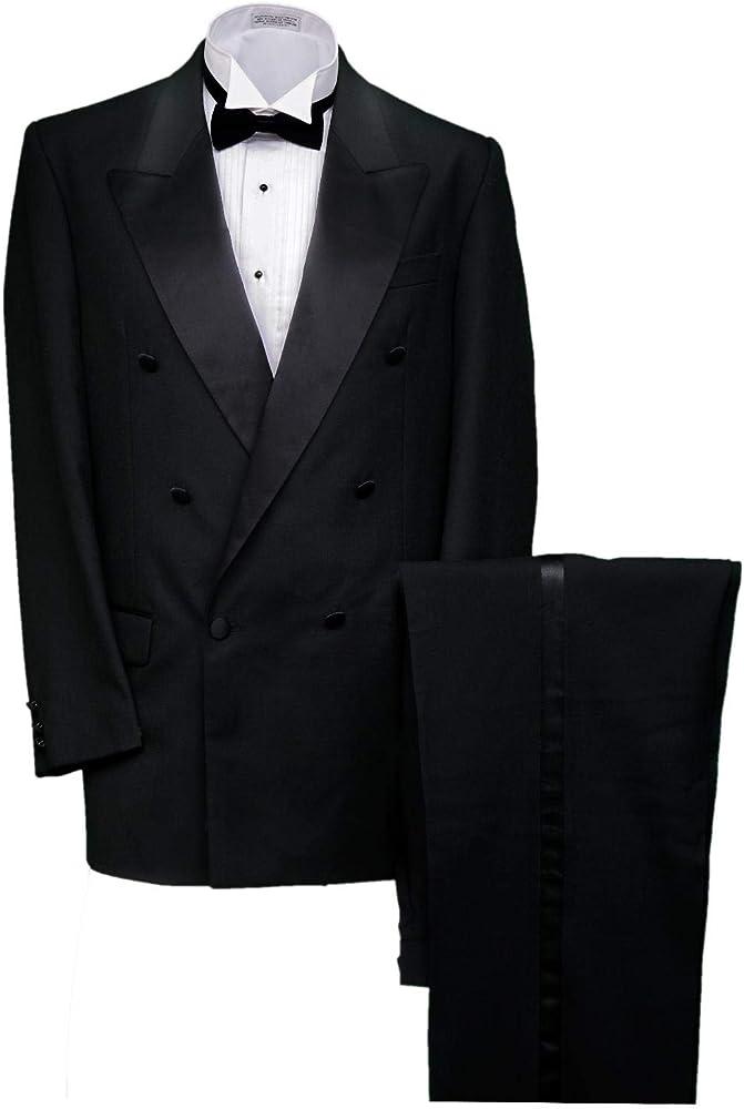 Broadway Tuxmakers Mens 100/% Wool Black 5 Button Tuxedo Vest