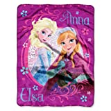 Disney Frozen Loving Sisters Anna and Elsa Micro Raschel Throw